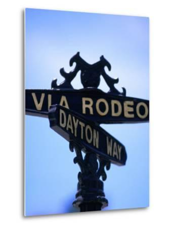 Rodeo Drive and Dayton Way in Beverly Hills, Los Angeles, California-Ray Laskowitz-Metal Print