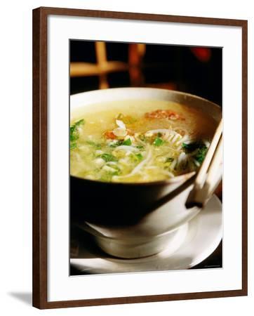 Across the Bridge Noodles at Brothers Jiang Restaurant, Kunming, Yunnan, China-Greg Elms-Framed Photographic Print