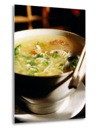 Across the Bridge Noodles at Brothers Jiang Restaurant, Kunming, Yunnan, China-Greg Elms-Metal Print