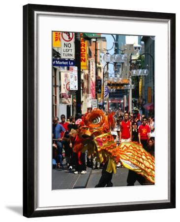 Dragon Dance During Chinese New Year, Chinatown, Melbourne, Victoria, Australia-Greg Elms-Framed Photographic Print