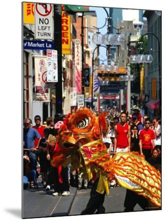Dragon Dance During Chinese New Year, Chinatown, Melbourne, Victoria, Australia-Greg Elms-Mounted Photographic Print