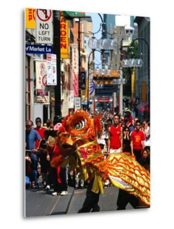 Dragon Dance During Chinese New Year, Chinatown, Melbourne, Victoria, Australia-Greg Elms-Metal Print