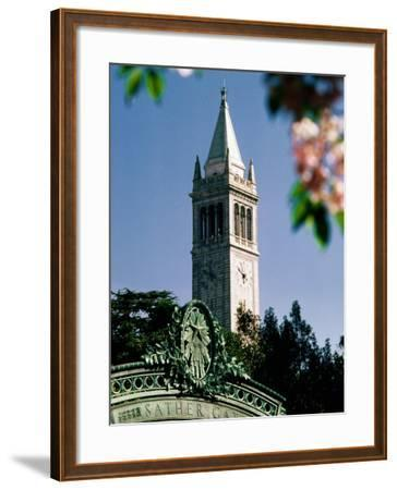 University of California, the Campanile, Alamada County, Berkeley, California-John Elk III-Framed Photographic Print