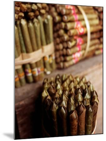 Burmese Cheroots at Market Stall, Myanmar-Anthony Plummer-Mounted Photographic Print