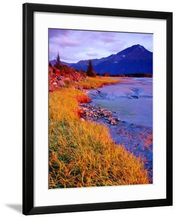 Low Tide at Turnagain Arm, Cook Inlet, Seward Scenic Highway, Seward, Alaska-Richard Cummins-Framed Photographic Print