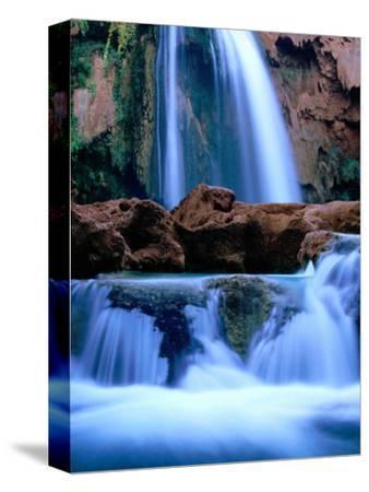 Havasu Falls, Havasupai Indian Reservation, Grand Canyon National Park, Arizona-Mark Newman-Stretched Canvas Print