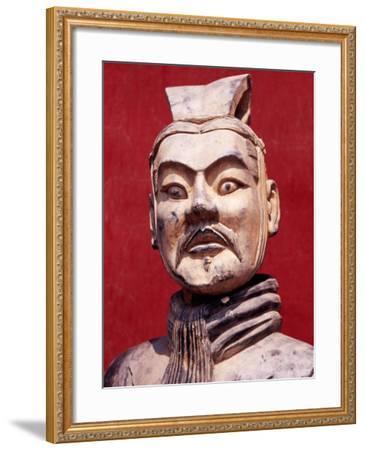 Replica Terracotta Warrior Outside Drum Tower, Beijing, China-Krzysztof Dydynski-Framed Photographic Print