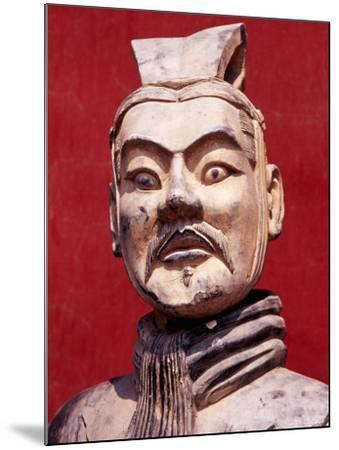 Replica Terracotta Warrior Outside Drum Tower, Beijing, China-Krzysztof Dydynski-Mounted Photographic Print