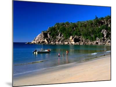 Father and Daughters Enjoying Waters of Radical Bay, Magnetic Island, Australia-Ross Barnett-Mounted Photographic Print