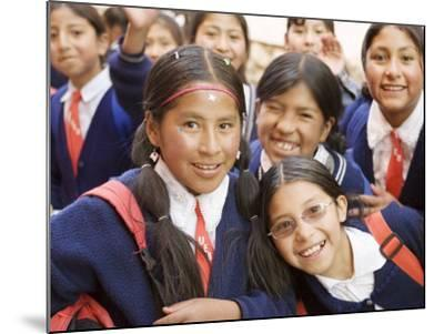 School Kids on Field Trip to Museums on Calle Jaen, La Paz, Bolivia-Brent Winebrenner-Mounted Photographic Print