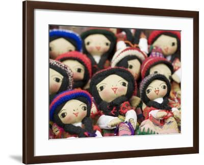 Close-Up of Bolivian Dolls for Sale, La Paz, Bolivia-Brent Winebrenner-Framed Photographic Print