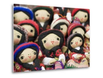 Close-Up of Bolivian Dolls for Sale, La Paz, Bolivia-Brent Winebrenner-Metal Print