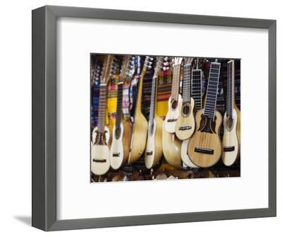 Charangos for Sale in Small Shop on Calle Linares, La Paz, Bolivia-Brent Winebrenner-Framed Photographic Print