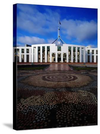 Parliament House with Mosaic in Foreground, Canberra, Australian Capital Territory, Australia-Richard I'Anson-Stretched Canvas Print