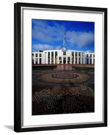 Parliament House with Mosaic in Foreground, Canberra, Australian Capital Territory, Australia-Richard I'Anson-Framed Photographic Print