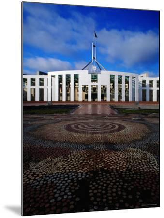 Parliament House with Mosaic in Foreground, Canberra, Australian Capital Territory, Australia-Richard I'Anson-Mounted Photographic Print