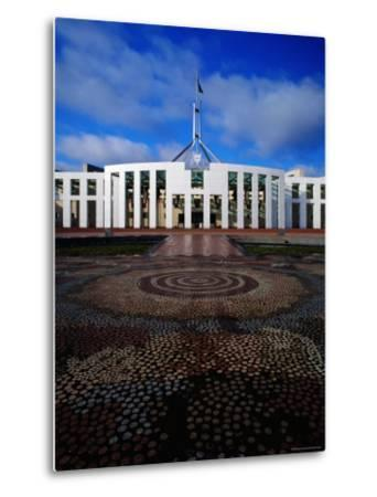 Parliament House with Mosaic in Foreground, Canberra, Australian Capital Territory, Australia-Richard I'Anson-Metal Print