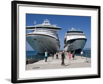 Cruise Ships Golden Princess and Constellation, St. George's, Grenada-Holger Leue-Framed Photographic Print
