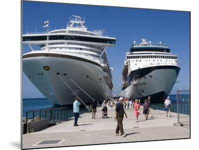 Cruise Ships Golden Princess and Constellation, St. George's, Grenada-Holger Leue-Mounted Photographic Print
