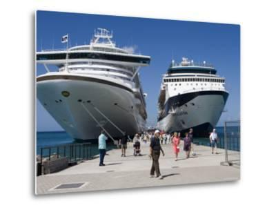 Cruise Ships Golden Princess and Constellation, St. George's, Grenada-Holger Leue-Metal Print