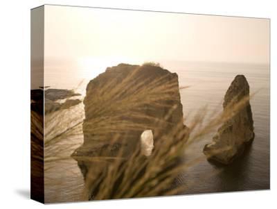 Pigeon Rocks, Beirut, Bayrut, Lebanon-Holger Leue-Stretched Canvas Print