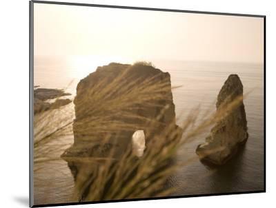 Pigeon Rocks, Beirut, Bayrut, Lebanon-Holger Leue-Mounted Photographic Print