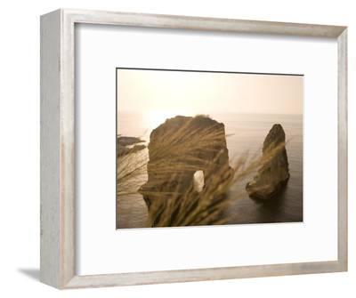 Pigeon Rocks, Beirut, Bayrut, Lebanon-Holger Leue-Framed Photographic Print