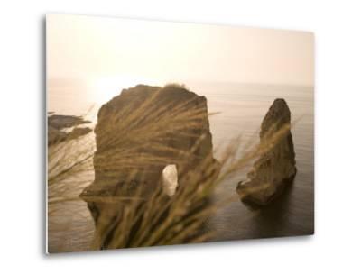 Pigeon Rocks, Beirut, Bayrut, Lebanon-Holger Leue-Metal Print