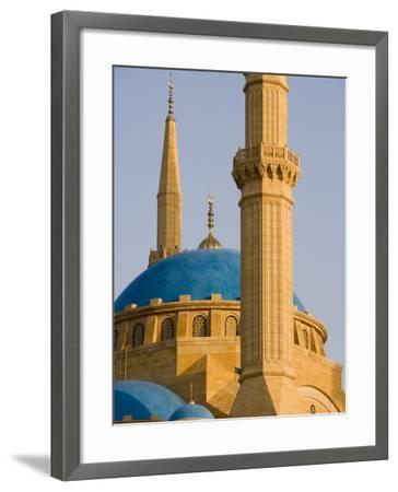 Grand Mosque, Beirut, Bayrut, Lebanon-Holger Leue-Framed Photographic Print