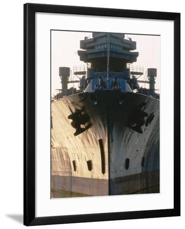 Battleship USS Texas, Houston, Texas-Holger Leue-Framed Photographic Print