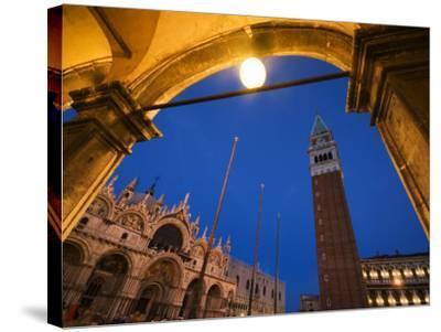 Basilica di San Marco and the Campanile, Venice, Italy-Krzysztof Dydynski-Stretched Canvas Print