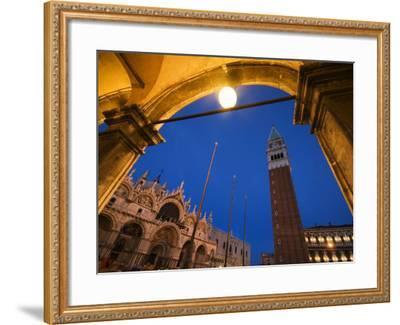 Basilica di San Marco and the Campanile, Venice, Italy-Krzysztof Dydynski-Framed Photographic Print