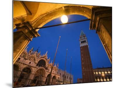 Basilica di San Marco and the Campanile, Venice, Italy-Krzysztof Dydynski-Mounted Photographic Print