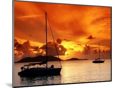 Moored Yachts at Sunset, Tortola, Virgin Islands-John Elk III-Mounted Photographic Print