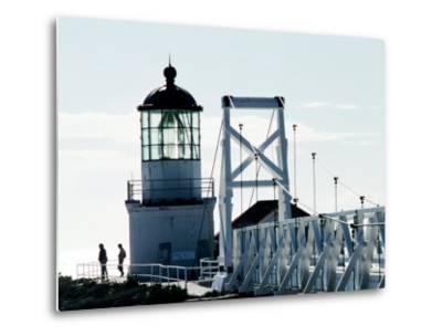 Pt Bonita Lighthouse at Marin Headlands, Marin County, California-John Elk III-Metal Print