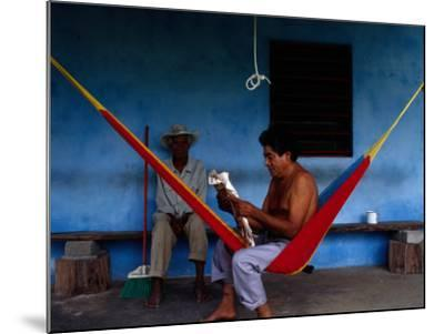 Locals Resting on the Porch in Chichicapa, Tabasco, Mexico-Jeffrey Becom-Mounted Photographic Print