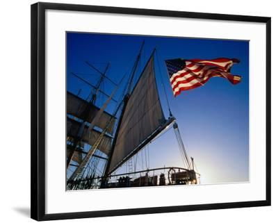 Stern of the Star of India Maritime Museum in Downtown San Diego, San Diego, California-Richard Cummins-Framed Photographic Print