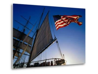 Stern of the Star of India Maritime Museum in Downtown San Diego, San Diego, California-Richard Cummins-Metal Print