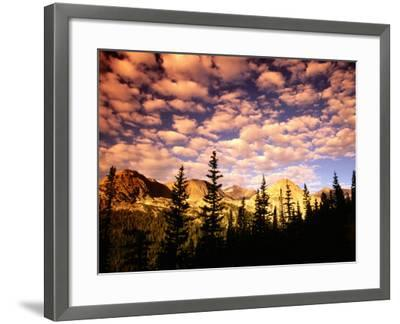 Peaks and Sky from Diamond Lake Trail, Indian Peaks Wilderness, Colorado-Witold Skrypczak-Framed Photographic Print