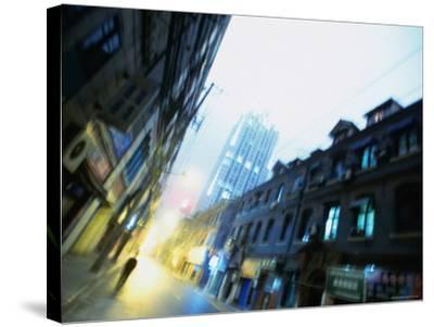 Shanghai Street, Shanghai, China-Ray Laskowitz-Stretched Canvas Print