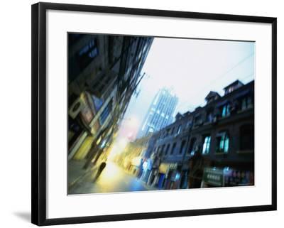 Shanghai Street, Shanghai, China-Ray Laskowitz-Framed Photographic Print