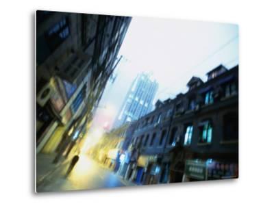 Shanghai Street, Shanghai, China-Ray Laskowitz-Metal Print