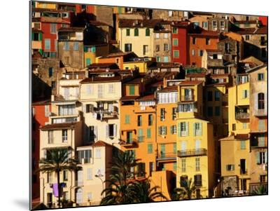 Colourful Houses Clustered on Hillside, Menton, Provence-Alpes-Cote d'Azur, France-David Tomlinson-Mounted Photographic Print