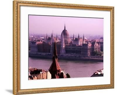 Parliament from Castle District, Budapest, Pest, Hungary-Roberto Gerometta-Framed Photographic Print