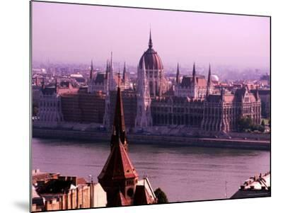 Parliament from Castle District, Budapest, Pest, Hungary-Roberto Gerometta-Mounted Photographic Print