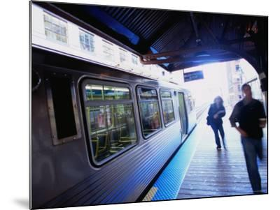 Riding the Brown Line el in the Loop, Chicago, Illinois-Ray Laskowitz-Mounted Photographic Print