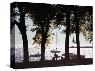 Lake Michigan from Grant Park, Chicago, Illinois-Ray Laskowitz-Stretched Canvas Print