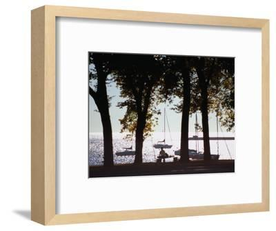 Lake Michigan from Grant Park, Chicago, Illinois-Ray Laskowitz-Framed Photographic Print