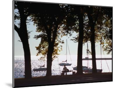 Lake Michigan from Grant Park, Chicago, Illinois-Ray Laskowitz-Mounted Photographic Print