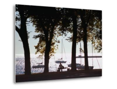 Lake Michigan from Grant Park, Chicago, Illinois-Ray Laskowitz-Metal Print